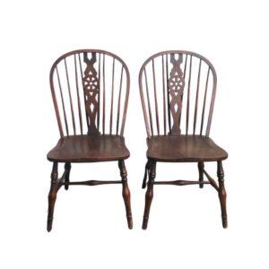 Vintage Windsor Side Chairs, Pair
