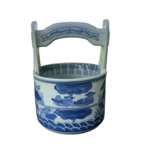 Blue And White Porcelain Wishing Well Bucket