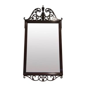 Baker Chippendale Pierced Fretwork Mahogany Mirror