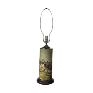 Old English Foxhunt Table Lamp