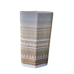 Vintage Porcelain Gold Line Pattern Vase