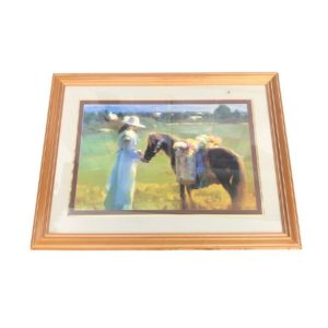 Framed Print of a Girl and Horse