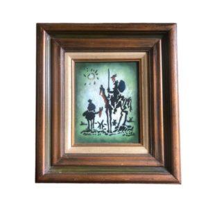 """Vintage """"Don Quixote"""" Enamel on Copper after Pablo Picasso"""