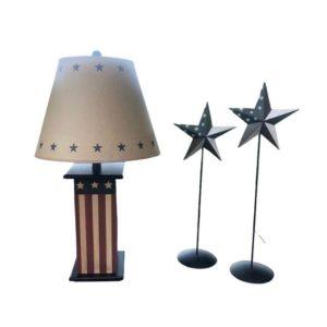 Americana Lamp and Standing Stars