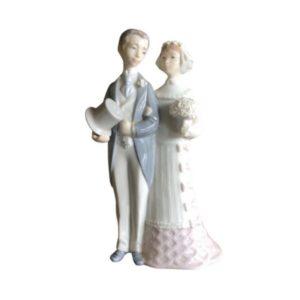 Lladro Porcelain Wedding Bride & Groom