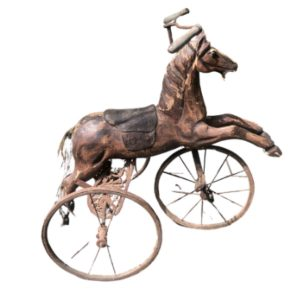 Antique Folk Art Horse Form Tricycle