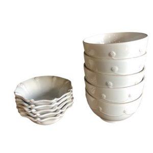 Juliska Whitewash Cereal Bowls and Berry Bowls