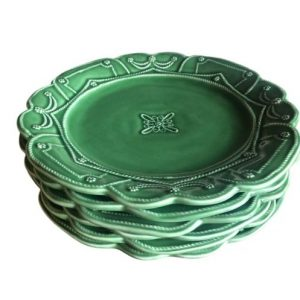 Juliska Jardins du Monde Garden Green Dinner Plates, Set of 6