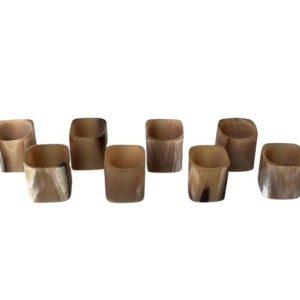 Horn Napkin Rings, Set of 8