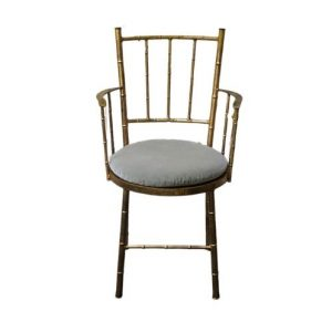 Faux Bamboo Gilded Metal Chair