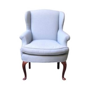 Light Blue Wing Chair