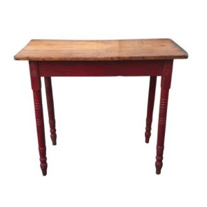 Antique Pine Table with Red Painted Legs