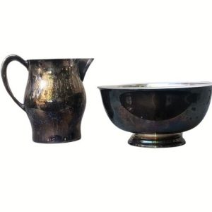 Silver Pitcher and Bowl