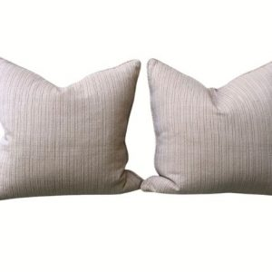 Pair of Pillows in Neutral Stripe