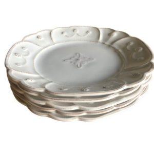 Juliska Jardins du Monde Whitewash Dessert Plates, Set of 5