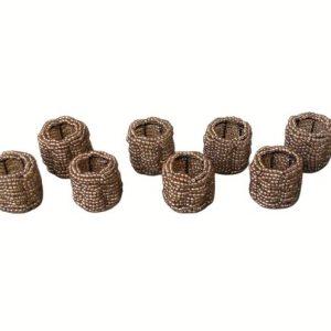 Beaded Napkin Rings, Set of 8