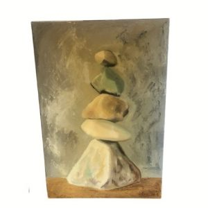 Stacked Stones Artwork, Signed