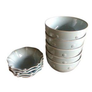 Juliska Ice Blue Cereal Bowls and Berry Bowls