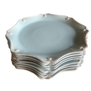 Juliska Berry & Thread Ice Blue Charger Plates, Set of 8