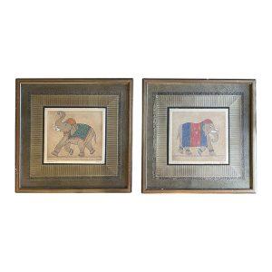 Kelley Elephant Prints, Town & Sea
